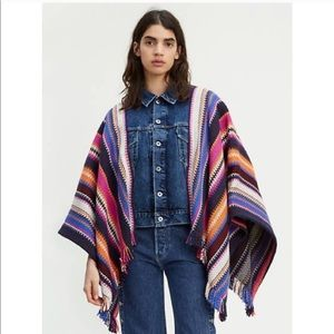 NWT Levi's Made Crafted Trucker Poncho Jacket
